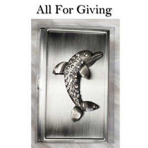 Dolphin Business Card Holder NWT